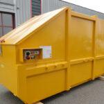 Presscontainer in gelb