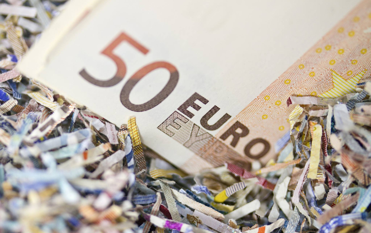 Schredder für Banknoten